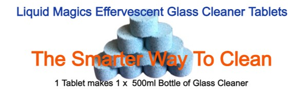Liquid Magics Effervescent Glass Cleaner Tablets