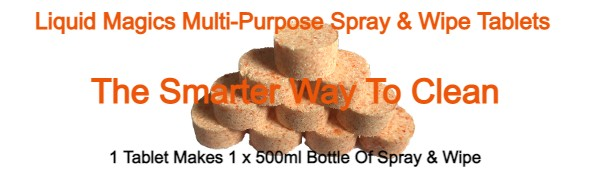 Liquid Magics Multi-Purpose Spray & Wipe Tablets